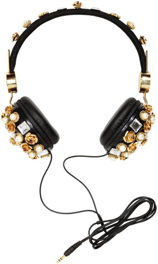 2e420e36c0f H&M - On-ear Headphones - Black/gold-colored - Ladies Bluetooth Speakers