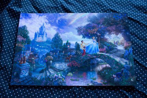 Thomas Kinkade Disney Cinderella Wishes Upon A Dream 8x12 Print | eBay $35