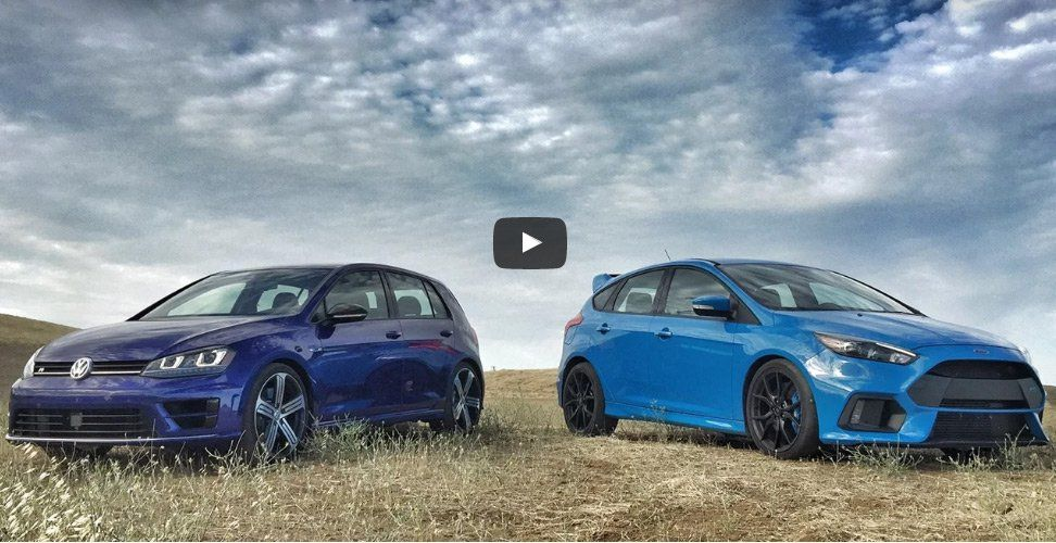 2017 Ford Focus Rs Vs 2017 Volkswagen Golf R Head 2 Head Video