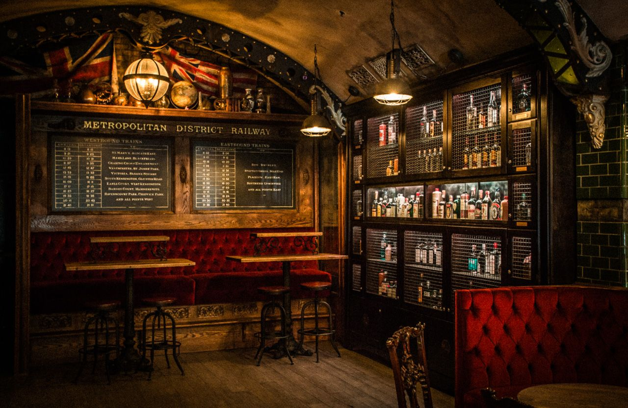 Tour This Vintage Style Industrial Gin Bar Inspired By Londonu0027s Abandoned  Underground