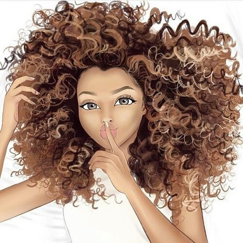 Curly Drawing And Hair Image Curly Hair Styles Natural Hair Art Hair Art
