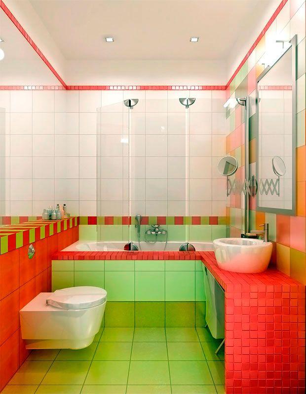 Сочетание цветов ванной и туалета фото