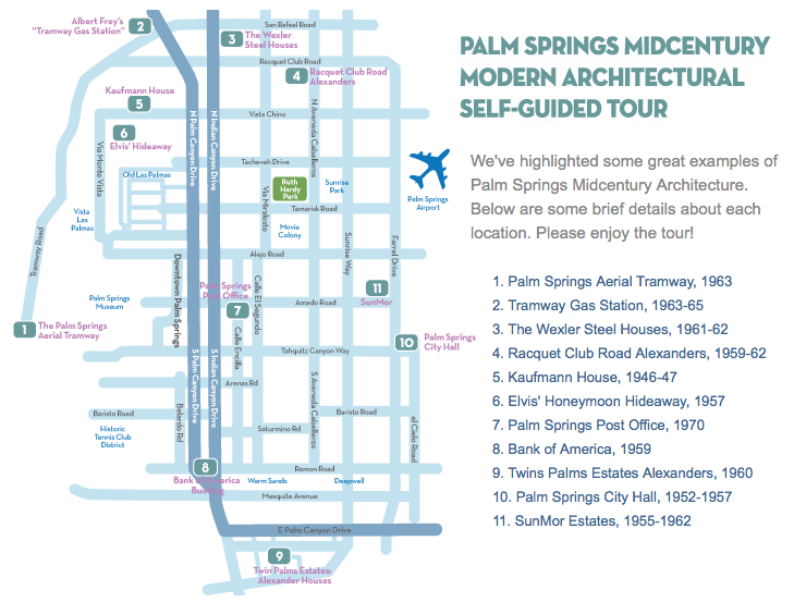 Palm Springs Mid Century Modern Self Guided Architectural Tour ...