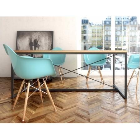 Mesa comedor escritorio moderna minimalista acero madera for Mesas escritorio modernas