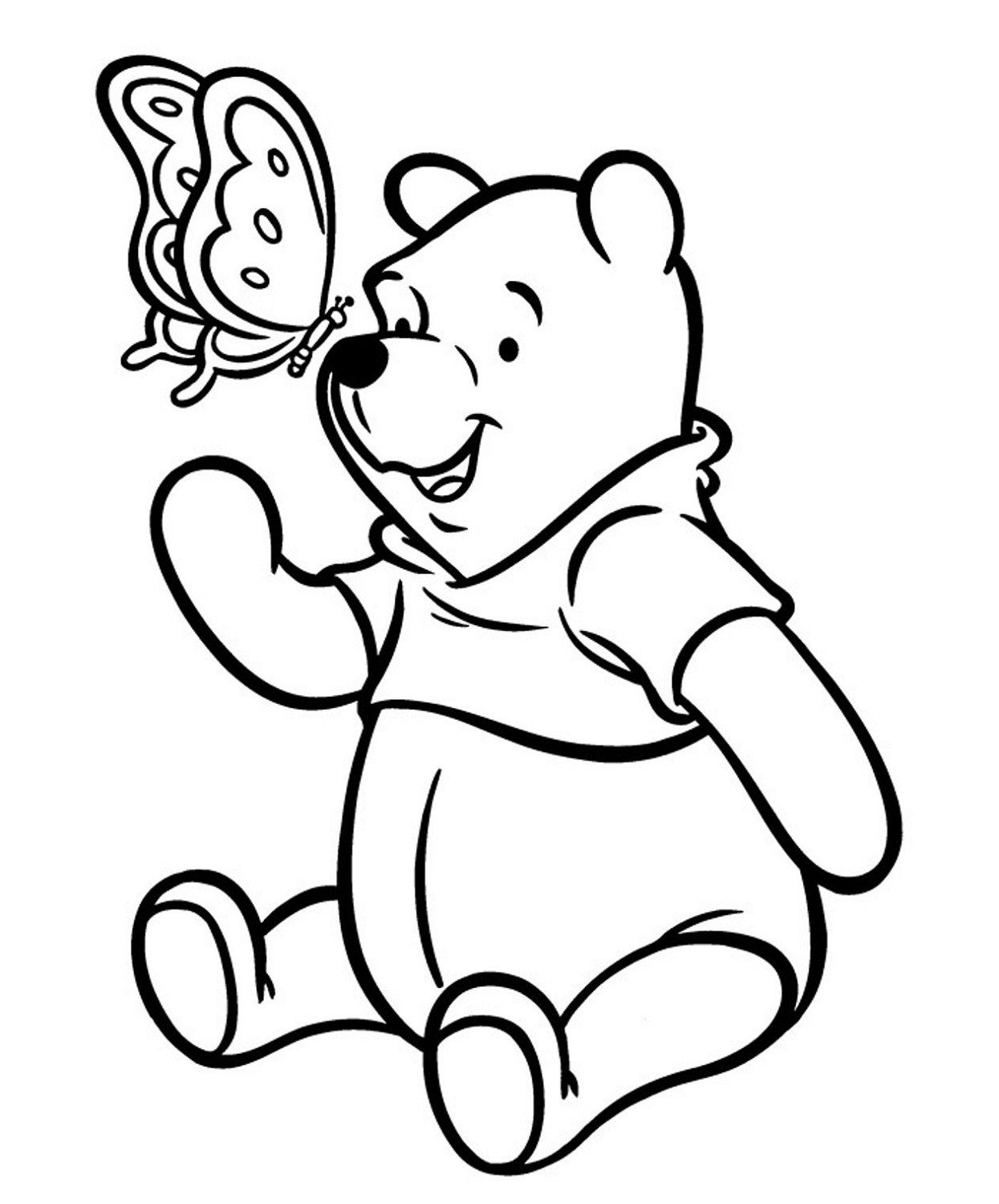 Colour Cartoon Characters Bear Coloring Pages Winnie The Pooh Pictures Coloring Pages For Kids