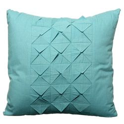 @Overstock.com - Steve Madden Taylor Aqua Square Decorative Pillow - Update your home decor with this Steve Madden Taylor square pillow. The removable cover with an aqua color features a diamond pleated pattern.  http://www.overstock.com/Home-Garden/Steve-Madden-Taylor-Aqua-Square-Decorative-Pillow/5877599/product.html?CID=214117 $21.99