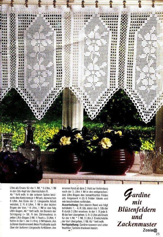gordijn valletjes gehaakt kant tapijten vitrages foto