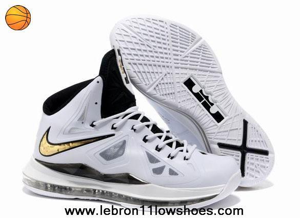 Black · Nike Lebron X (10) White Black Gold