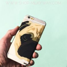 """Clear Plastic Case Cover for iPhone 6 (4.7"""") Henna The Pug Case"""
