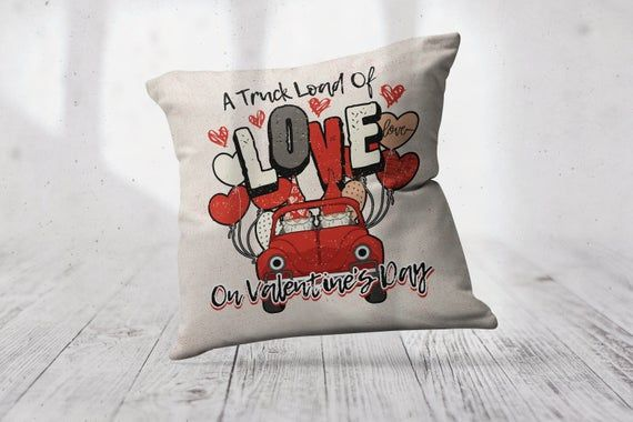 "Truck Load Of Love / Standard Pillow Case / Throw Pillow Cover / 14"" x 14"" - 20"" x 20"" / Funny Pillo"