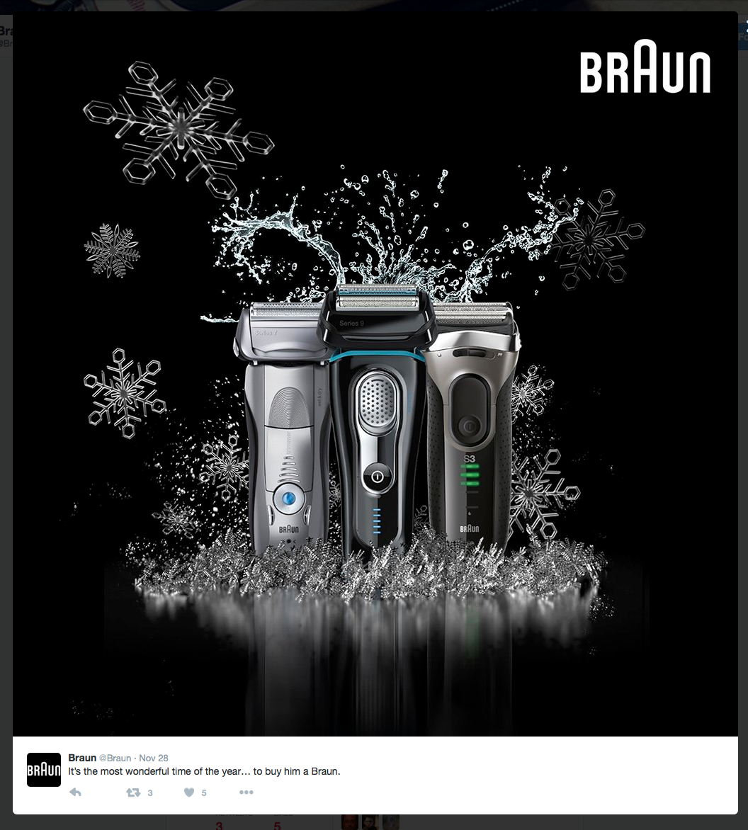Creative packshot for #braun