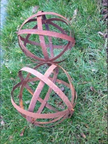 Edelrost Garten Dekokugel Aus Metall 30cm Und 40cm 2st Aus Metall