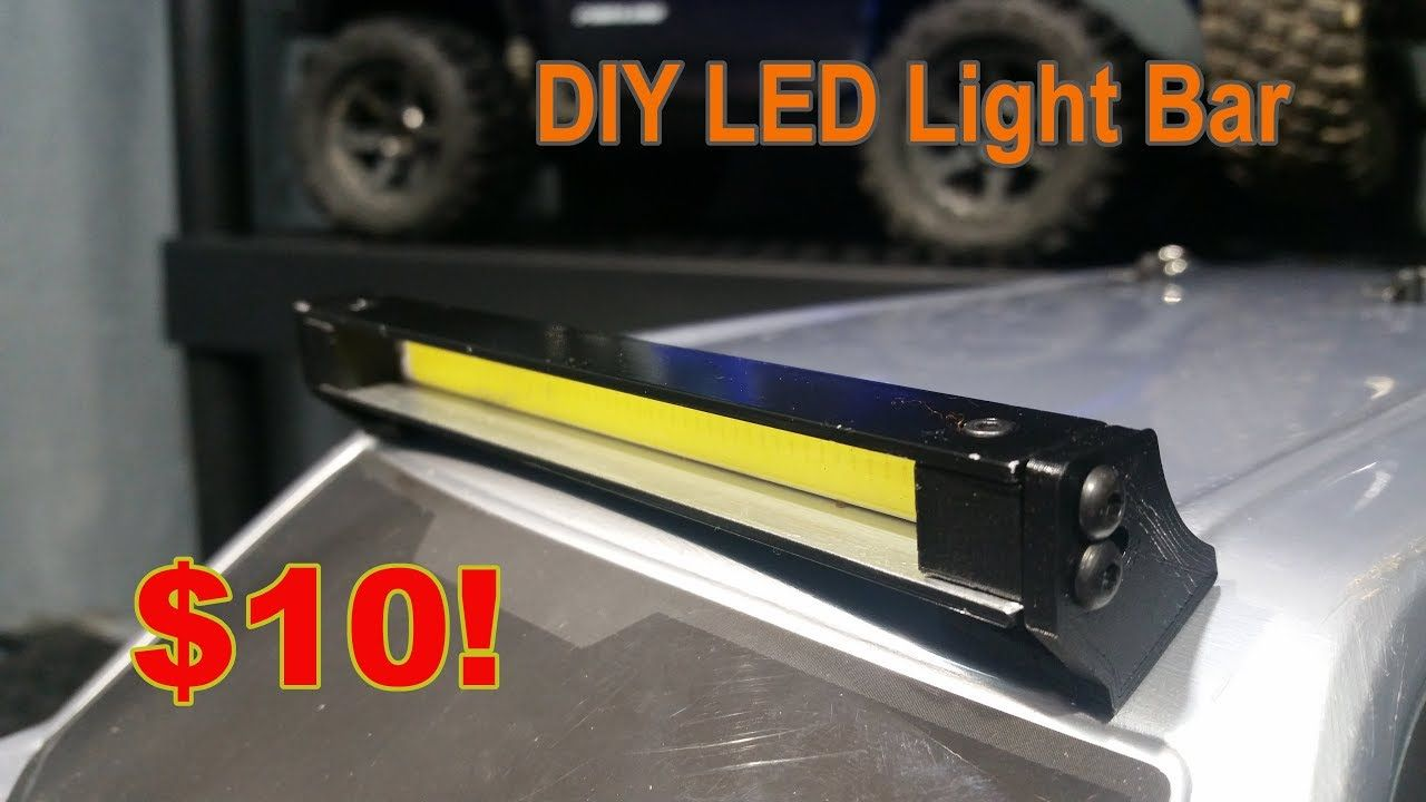 How To Diy Rc Crawler Light Bar Bar Lighting Rc Crawler