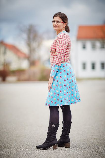 #Ladyskater, #Kitschycoo, Kleid, Nähen, Dress, Sewing, farbig, colourful, Molas