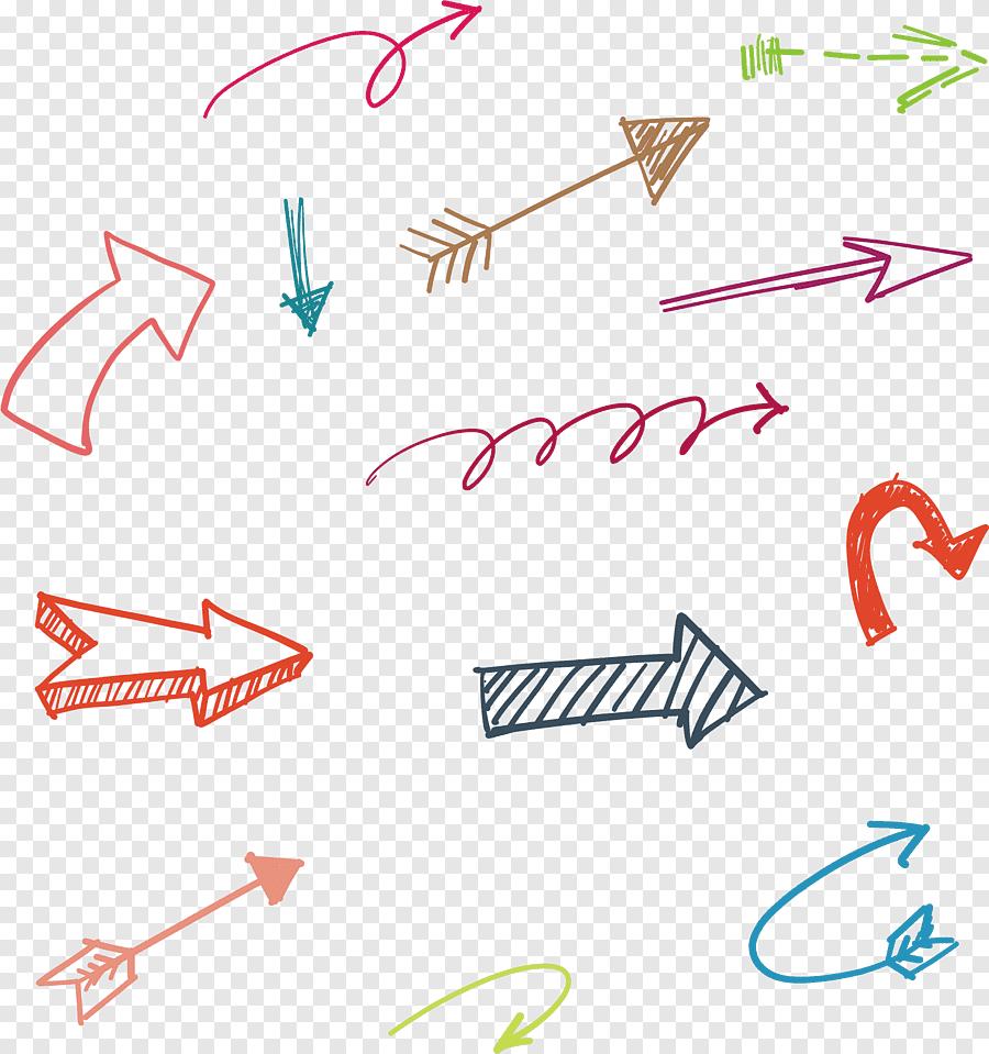 Flecha Dibujada A Mano Arte De Flecha Surtida Angulo Texto Png Texto Png Manos Dibujo Flechas