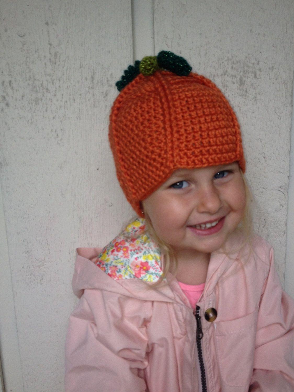 Pumpkin Hat by CreateAllCrochet on Etsy