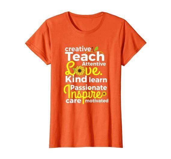 Teach Love Inspire Teacher Sunflower Funny School Gift Women TShirt  Teach Love Inspire Teacher Sunflower Funny School Gift Women TShirt   Teach Love Inspire Teacher Sun...