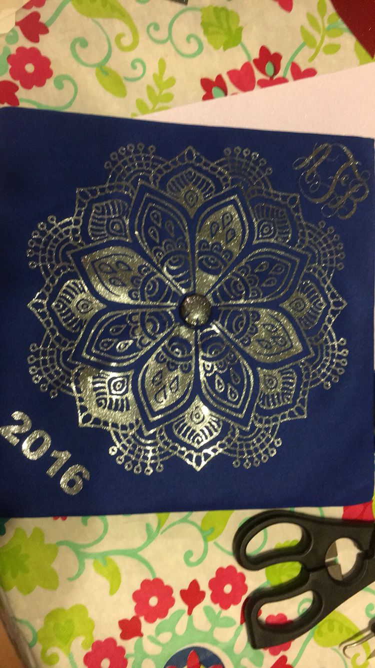 Mandala Graduation Cap Grad Cap Graduation College Life