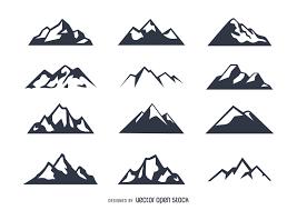 Image Result For Mountain Icon Mountain Silhouette Icon Set Icon Set Vector