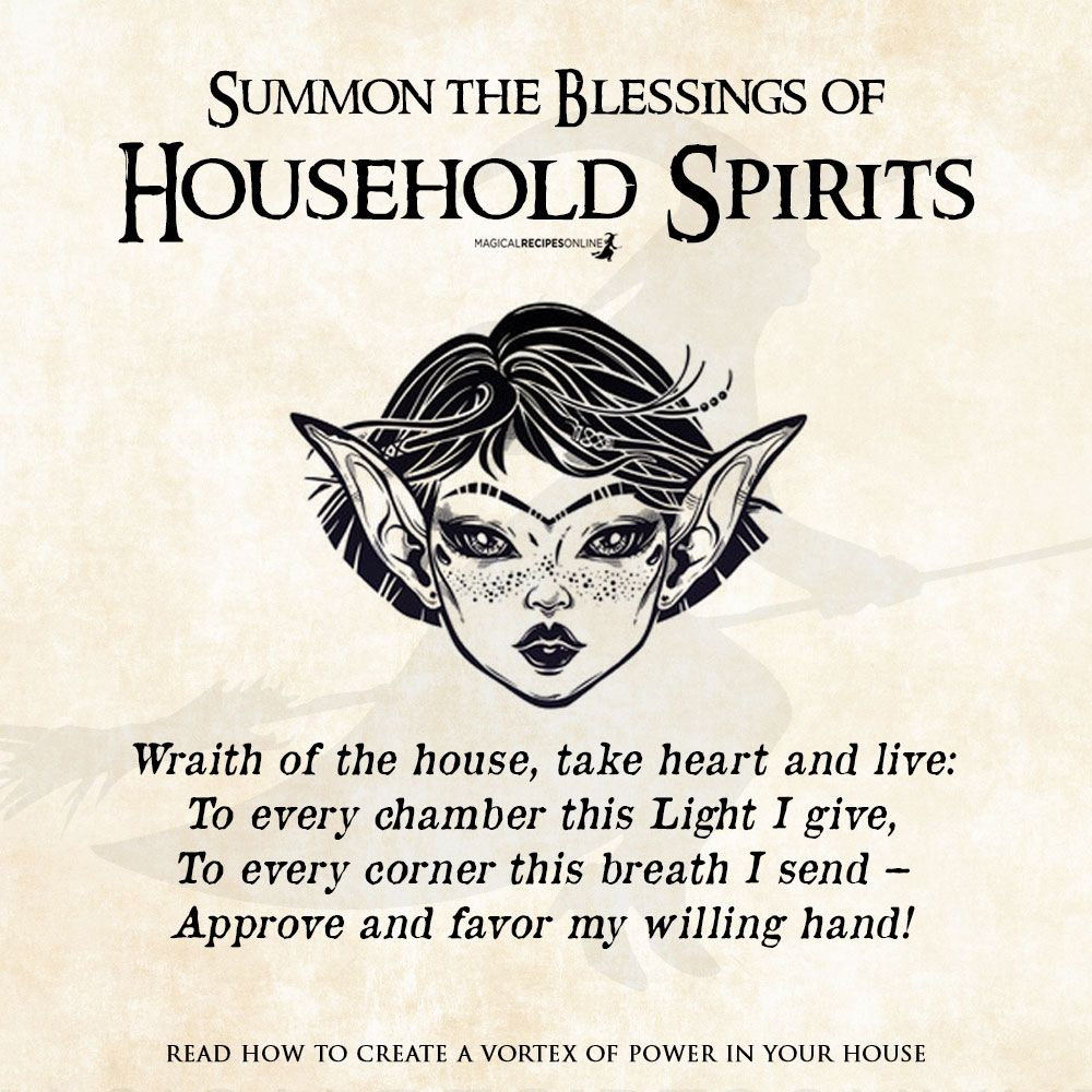 A Spell to please the Household Spirits - Magical Recipes Online