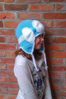 Craft En Art Gratis Patroon Muts Met Grote Strik Free Pattern Hat