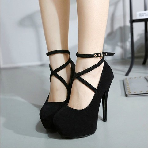 Cross Strap High Heels Fashion Shoes