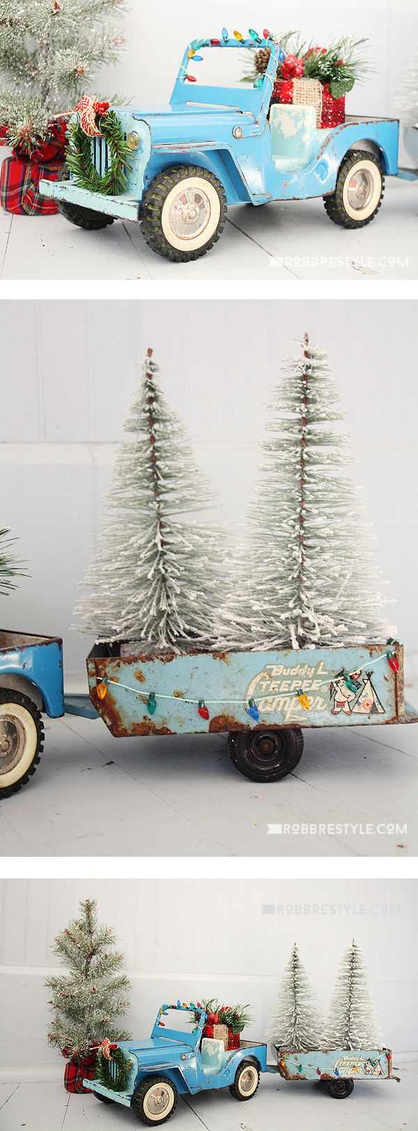 Holiday Trimmings: Vintage Toy Trucks | Beautiful DIY Home Decor ...