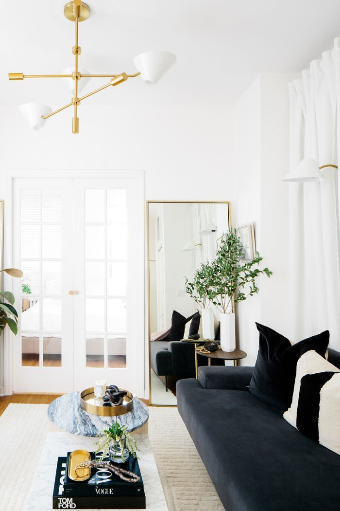 Living Room Design Small Spaces Beauteous This Simple Styling Trick Made My Nyc Apartment Feel 10 Times Design Decoration