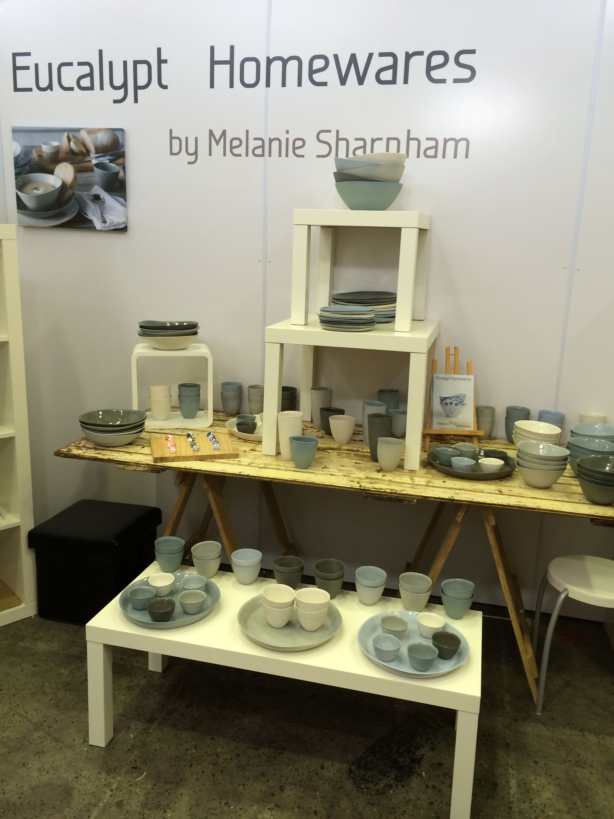 Check Out Our Cream Vintage Trestle Table Being Used In The Beautiful  Eucalypt Homewares Display!