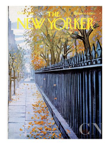 Autumn In New York by Arthur Getz   October 19 and Giclee print