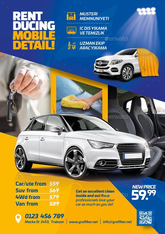 car wash flyer bundle templates wash car flyer templates