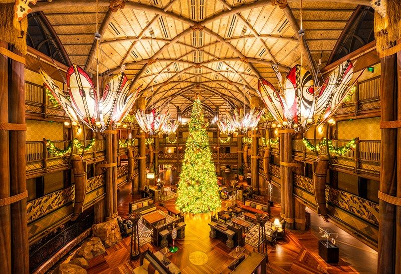 Animal Kingdom Lodge at Christmas #animalkingdom