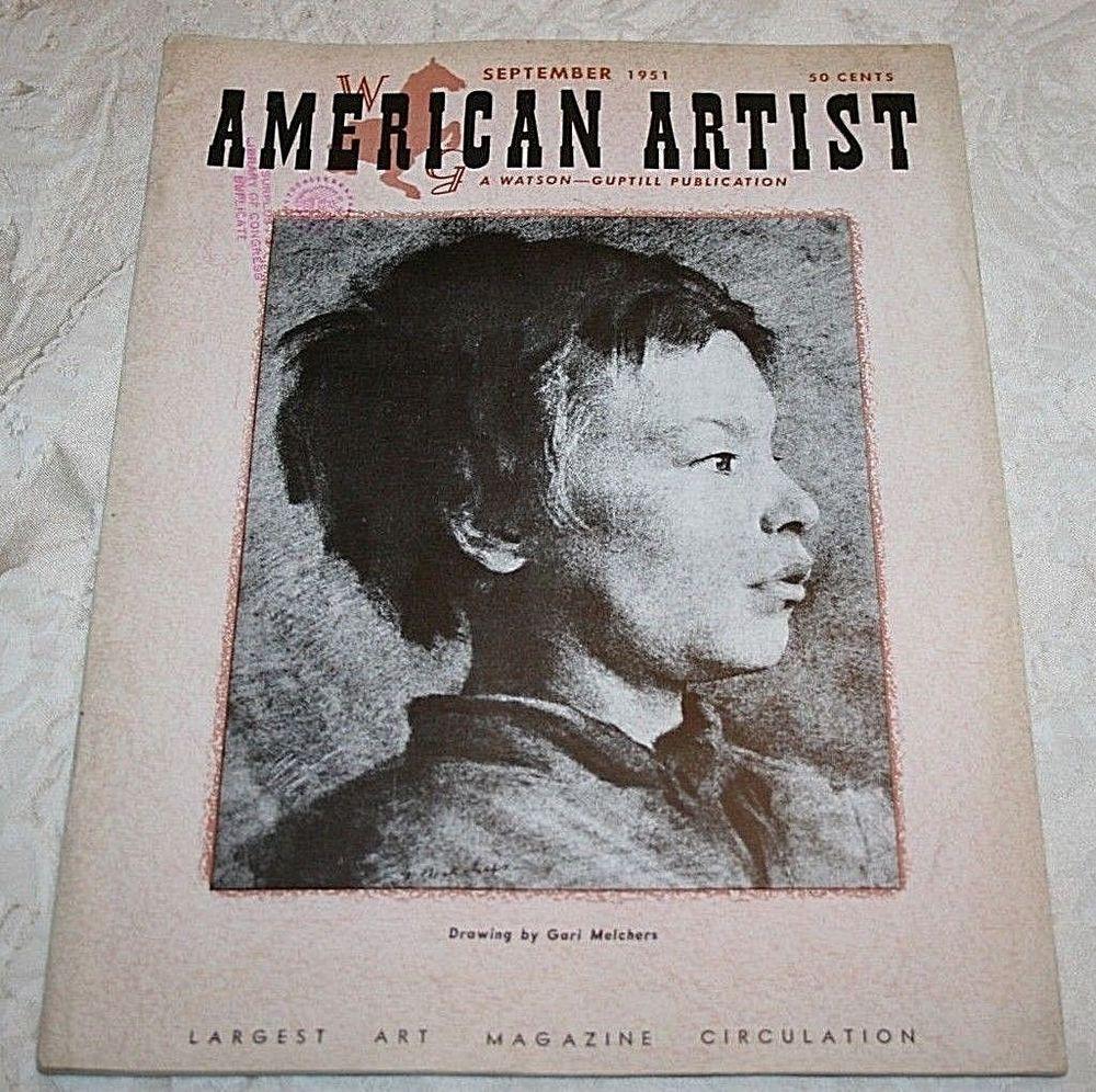American artist magazine september 1951 back issue