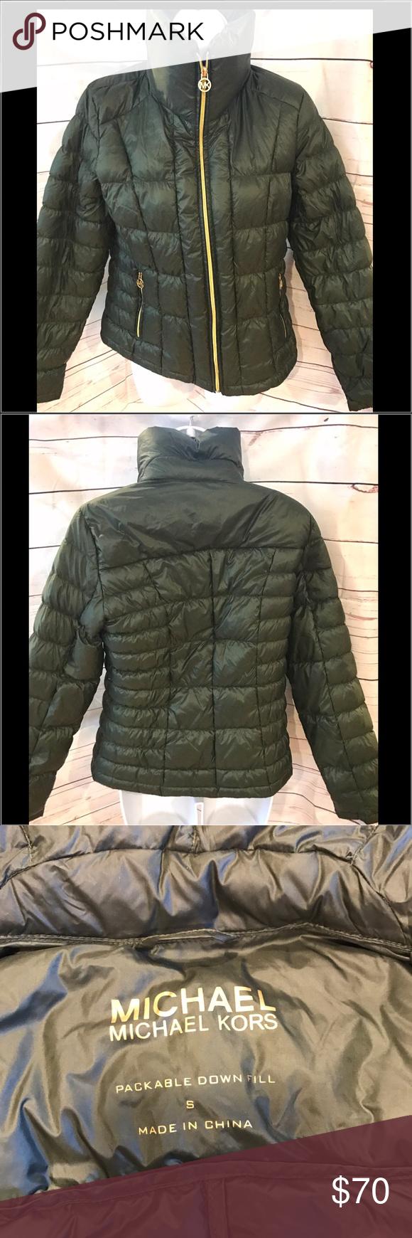 b6175be26 Michael Kors olive down jacket Michael Kors olive down jacket ...