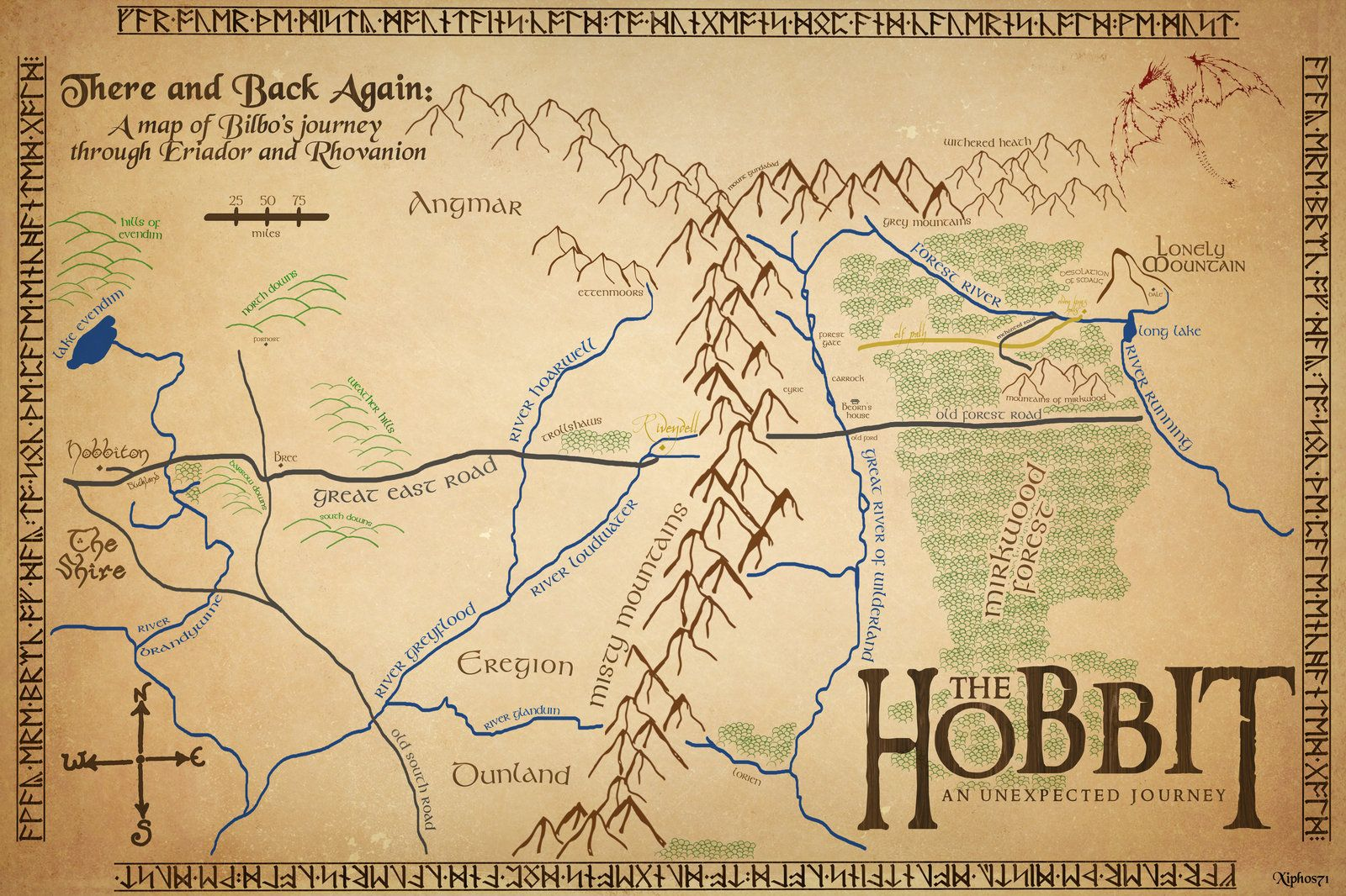 Risultati immagini per the hobbit new map THE HOBBIT LOTR