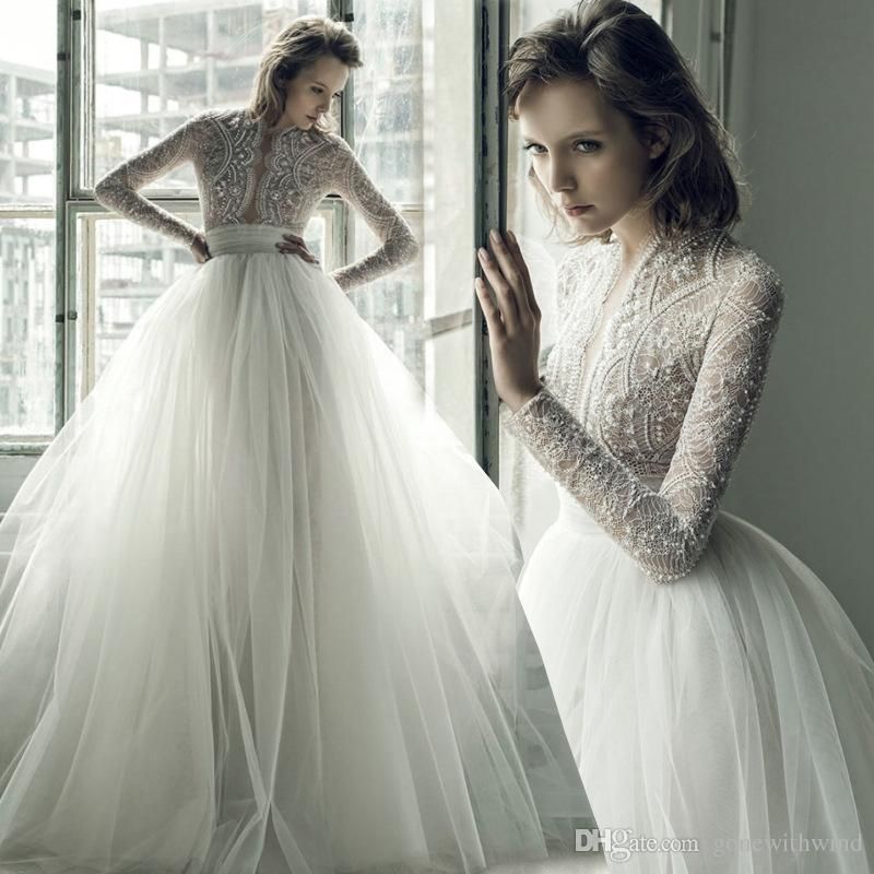 Bohemian Wedding Dresses 2017 Ersa Atelier Long Sleeves