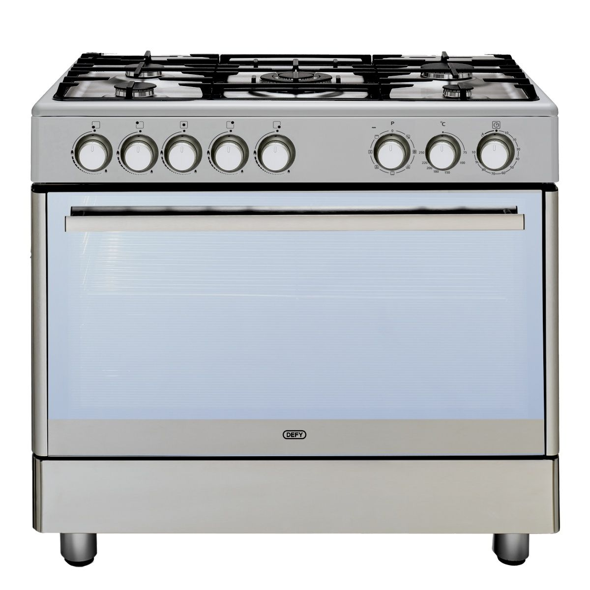 5 Burner Gas Electric Stove Stainless Steel Stand Alone Stoves
