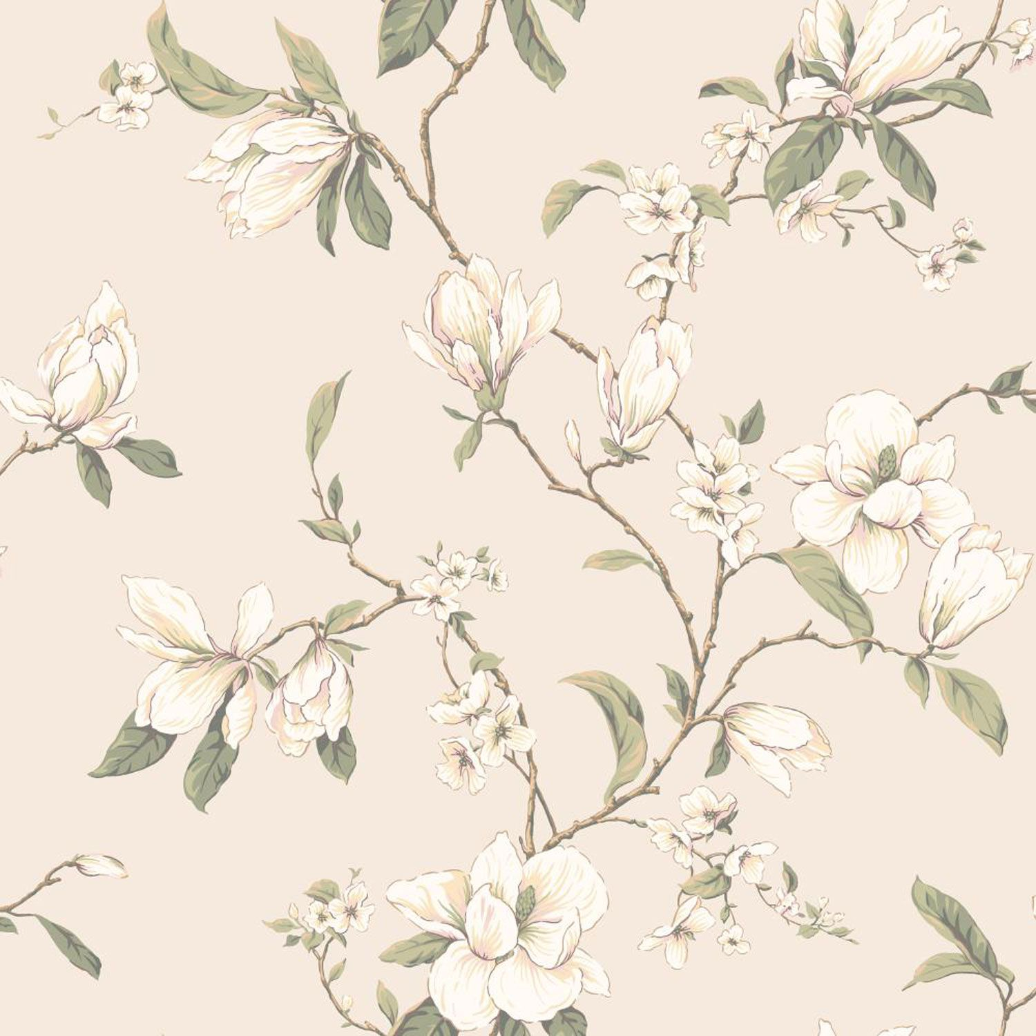 Callaway Cottage Pearlescent Cream Magnolia Branch
