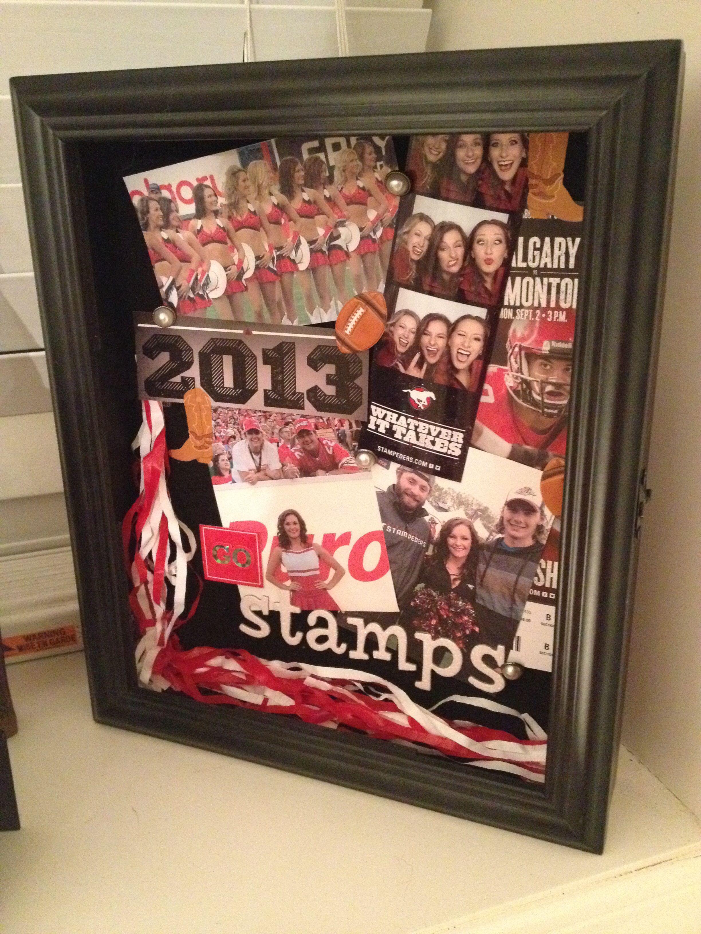 Shadow Box Memory Gift Football Cheerleader Gift