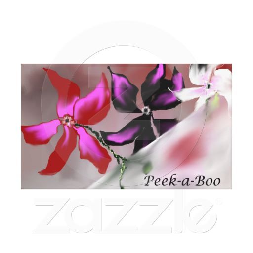 Peek-a-Boo Flowers Stretched Canvas Print