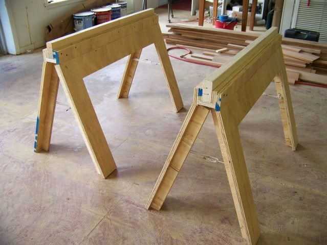 Awesome Free DIY Project Plan For The Garage/Workshop: Learn How To Build Folding  Sawhorses