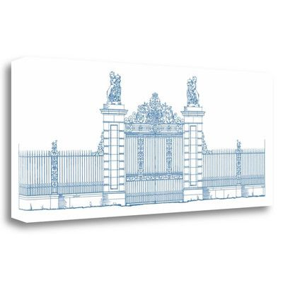 Tangletown Fine Art 'Majestic Gate I' by Wild Apple Portfolio Graphic Art on Wrapped Canvas