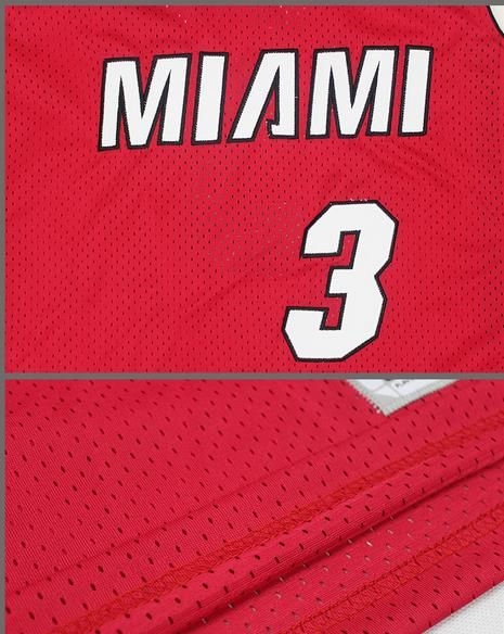 ce3c2a1706ef The new Miami Heat Wade 3 jersey fans embroidery mesh basketball service