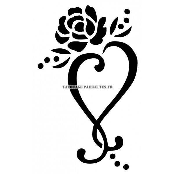 dessin tatouage coeur noir et blanc recherche google. Black Bedroom Furniture Sets. Home Design Ideas