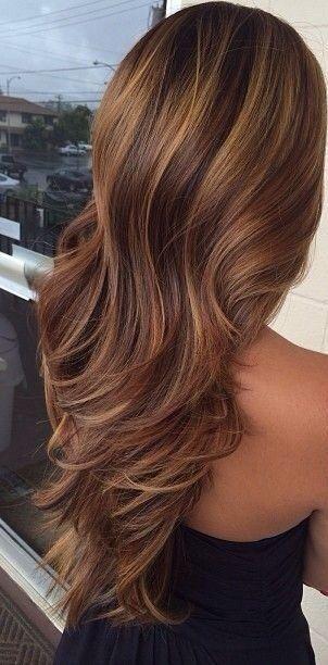 Haarkleur Haarkleur Bruin Haar Highlights Kapsels En Gekleurd Haar