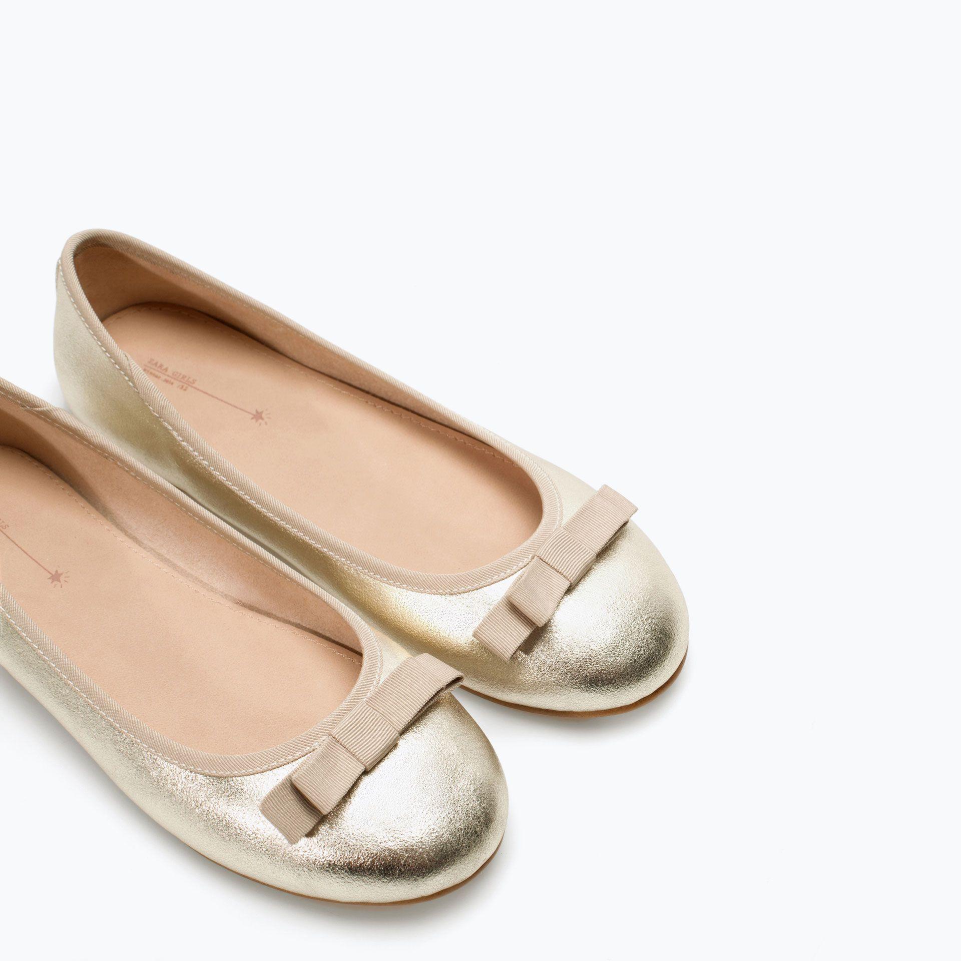 BALLERINES MÉTALLISÉES - Chaussures - Filles (3 - 14 ans) - ENFANTS   ZARA  France ab372b670334