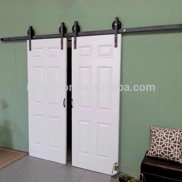 White 6 Panel Hdf Moulded Sliding Barn Doors Interior Buy White