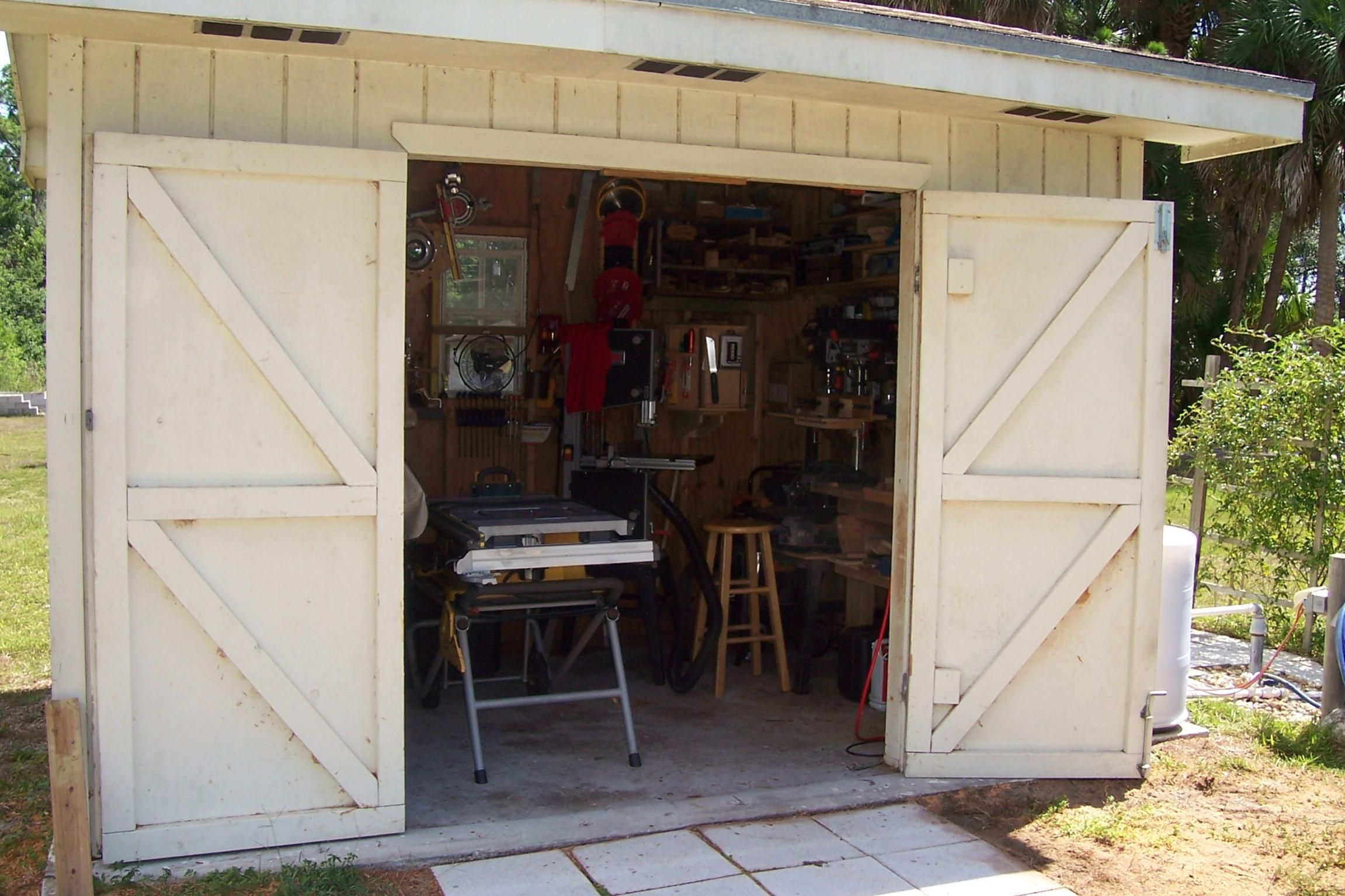 12 x 8 shed with 3 windows and french doors shed