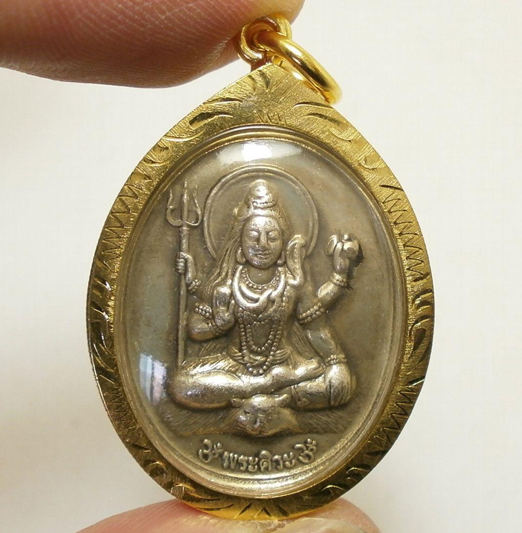 PHRA LP NGERN ON ELEPHANT RARE OLD THAI BUDDHA AMULET PENDANT MAGIC ANCIENT#37