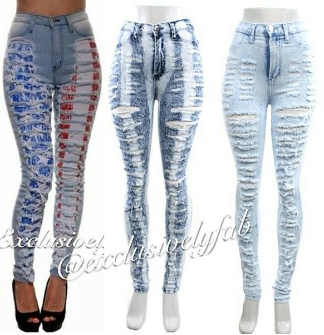 White High Waisted Ripped Jeans | Shops, Products and Jeans